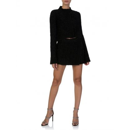 Black Knitted Lamé Jacket