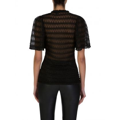 Black Lamé Knitted Top