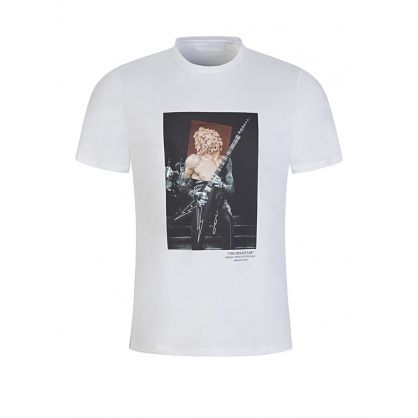 White The Rockstar Print T-Shirt