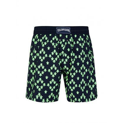 Navy Stretch Squad Turtles Swim Shorts