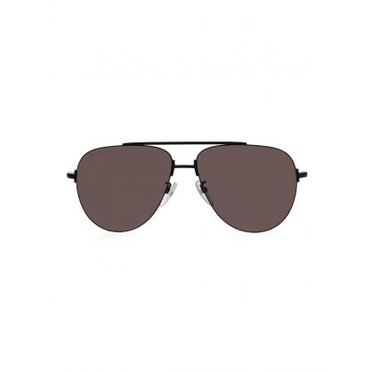 Black Invisible Aviator Sunglasses
