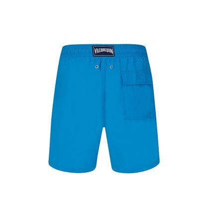 Blue Shellfish & Turtles Water-Reactive Swim Shorts