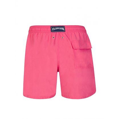 Pink Shellfish & Turtles Water-Reactive Swim Shorts