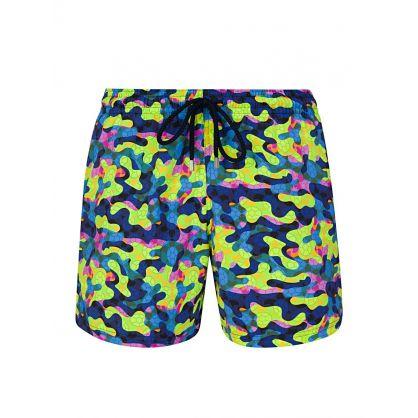 Yellow Neo Camo Turtles Swim Shorts