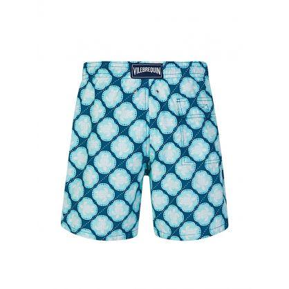 Blue Wax Turtles Swim Shorts