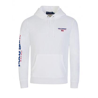 Polo Sport White Fleece Hoodie