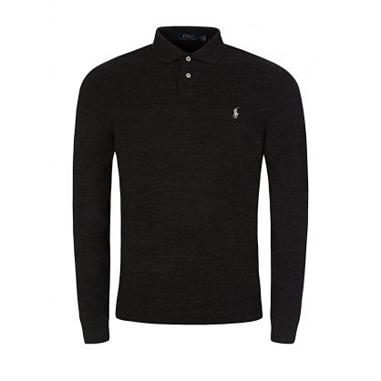 Black Heather Polo Shirt