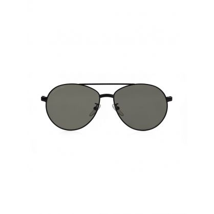 Black Vintage Aviator Sunglasses