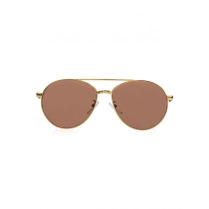 Gold Vintage Aviator Sunglasses