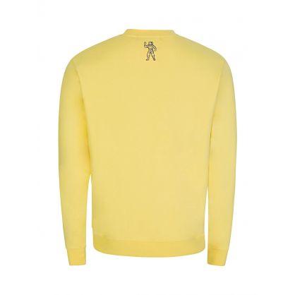 Yellow Straight Logo Sweatshirt