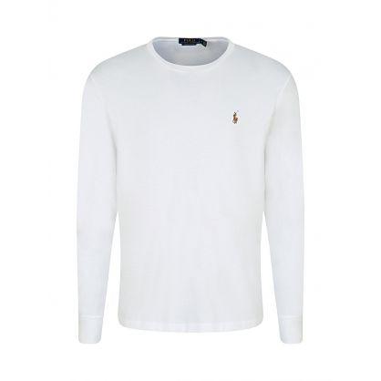 White Custom Slim-Fit Long-Sleeve T-Shirt