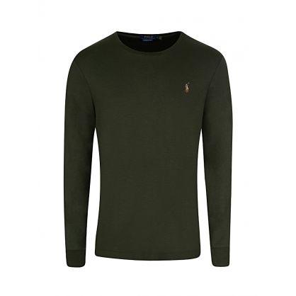 Green Custom Slim-Fit Long-Sleeve T-Shirt