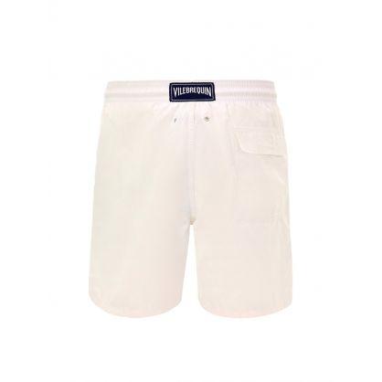 Plain White Swim Shorts