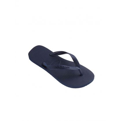 Navy Top Plain Flip Flops