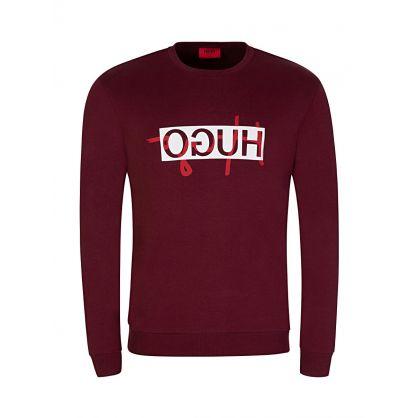 Red Reverse Logo Sweatshirt