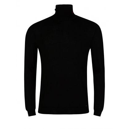 Black Serno Knitted Roll Neck Jumper