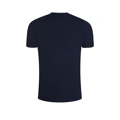 Menswear Navy Curved Logo T-Shirt