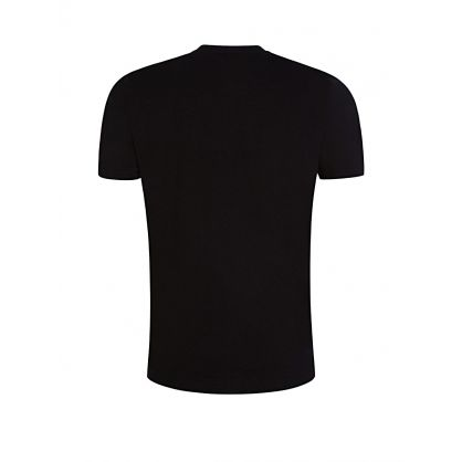 Menswear Black Curved Logo T-Shirt
