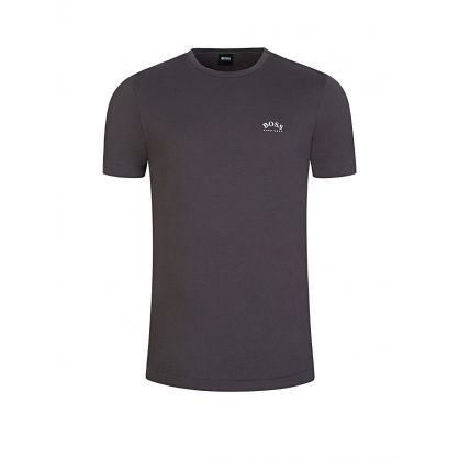 Menswear Grey Curved Logo T-Shirt