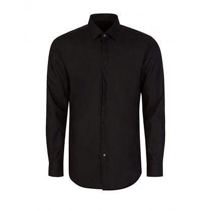 Black Javis Glitter Tipped  Shirt