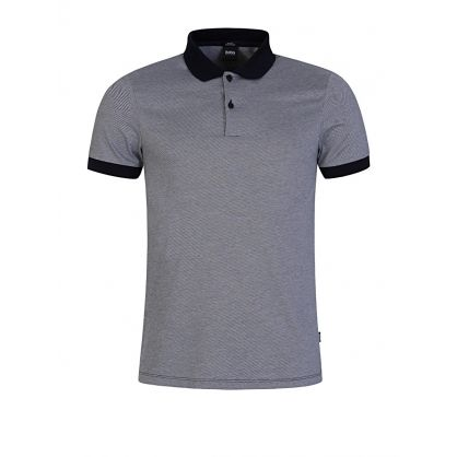 Menswear Navy Slim Fit Micro-Patterned Polo Shirt
