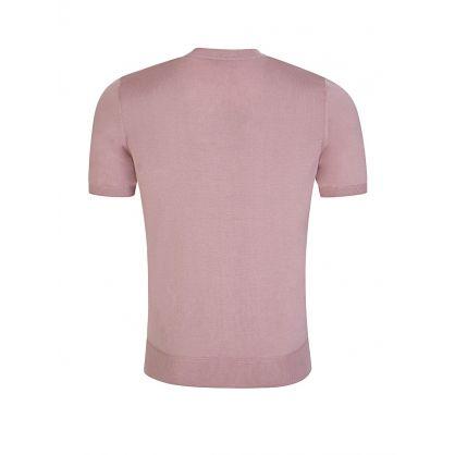 Pink Pure Silk Short Sleeve Sweatshirt