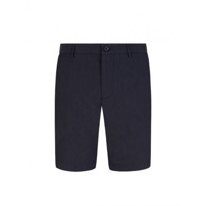 Menswear Navy Slim Fit Micro Motif Shorts