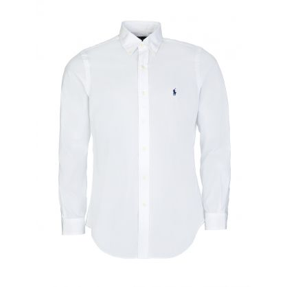 Ralph Lauren White Poplin Stretch Shirt