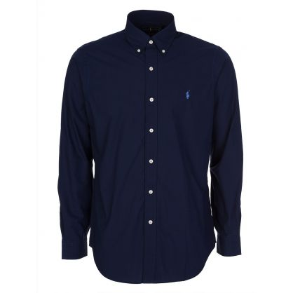 Navy Stretch Classic Poplin Shirt