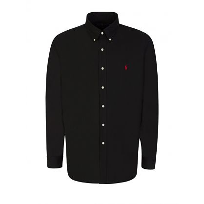 Black Stretch Classic Poplin Shirt
