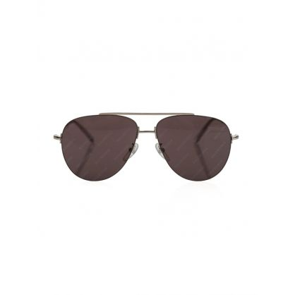 Silver Invisible Aviator Sunglasses