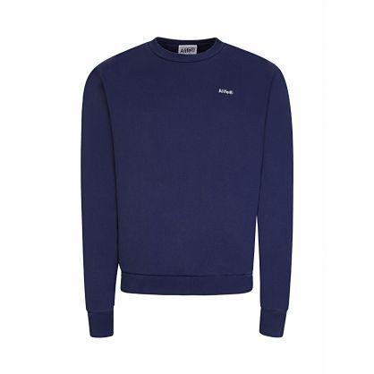 Navy Basics Logo Sweatshirt