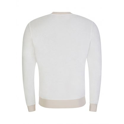 Cream Beach Towelling Pierce Sweatshirt
