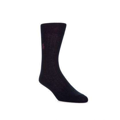 Navy Egyptian Cotton Socks