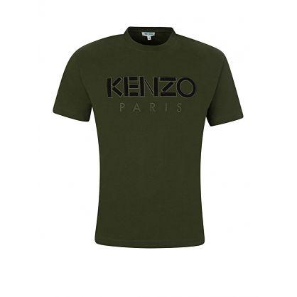 Khaki Mesh Paris T-Shirt