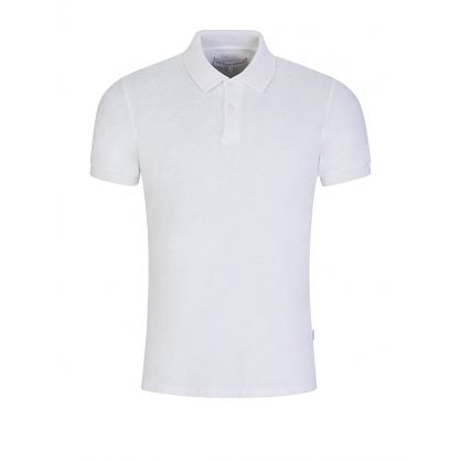 White Jarrett Towelling Polo Shirt