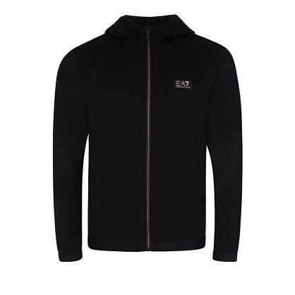 Black Zip-Through Logo Hoodie