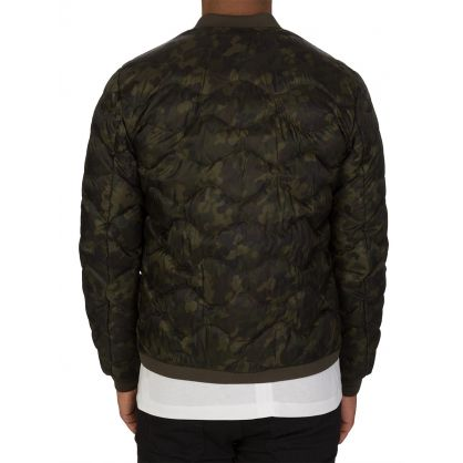 Green Camouflage Bomber Jacket
