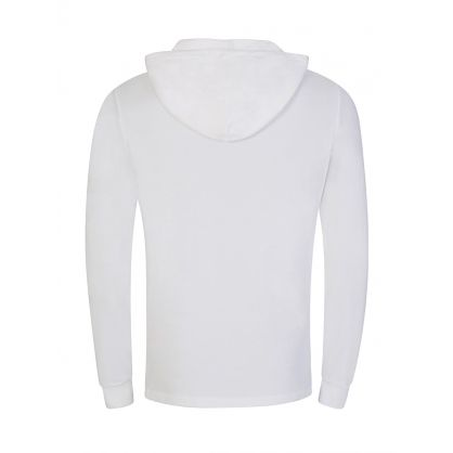 White Cotton Mesh Hoodie
