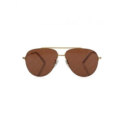 Gold Invisible Aviator Sunglasses