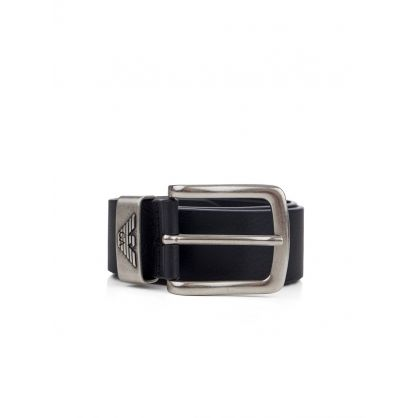 Black Leather Fashion Belt