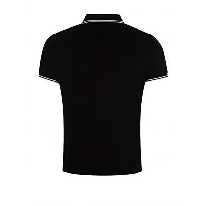 Black Tipped Collar Polo Shirt