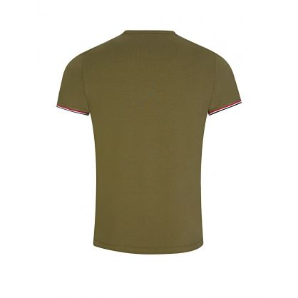 Green Tri-Colour Trim T-Shirt