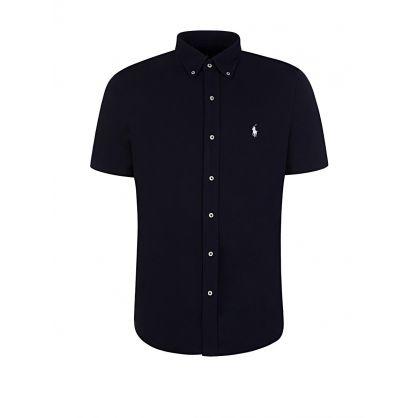 Navy Featherweight Mesh Shirt