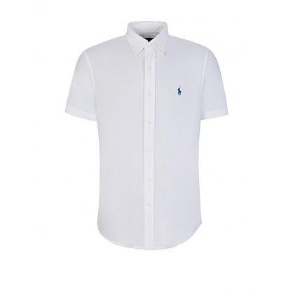 White Featherweight Mesh Shirt