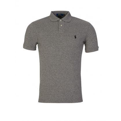 Grey Slim Fit Mesh Polo Shirt