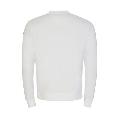 White Tri-Colour Zip Sweatshirt