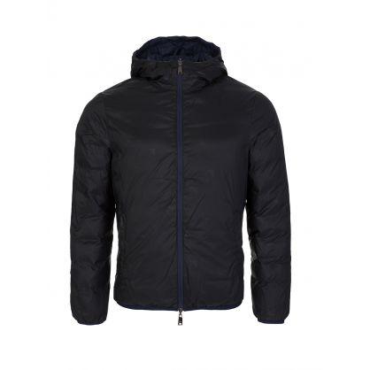 Blue Reversible Hooded Rain Jacket