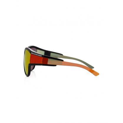 Black Wrap Lens Sunglasses
