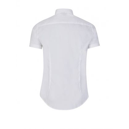 White Short Sleeve Small Logo Shirt